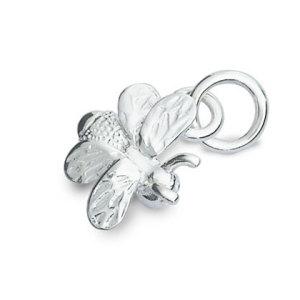 silver bee charm
