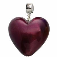 Dark Amethyst Murano heart