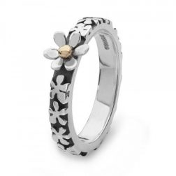 Silver Ever After Daisy Ring