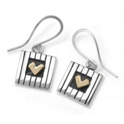 Love squared drop earrings