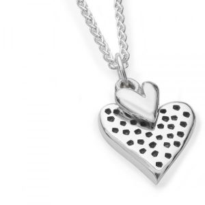 Silver Dotty Heart Necklace