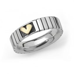 Silver Love Squared Ring