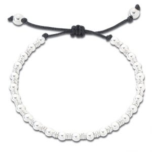 Silver bead and ring friendship bracelets