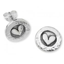 Silver Petite Heart Earrings