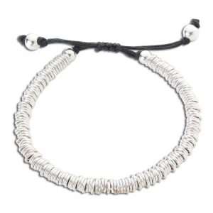 Silver sweetie friendship bracelet