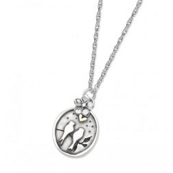 Silver small starry night necklace