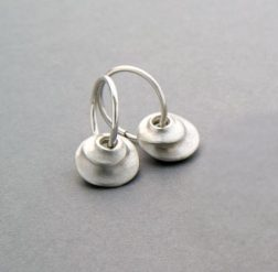 Silver spiral hoop earrings