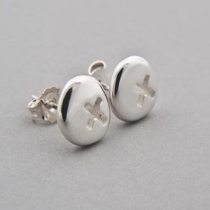 Silver Pebble Kiss Earrings