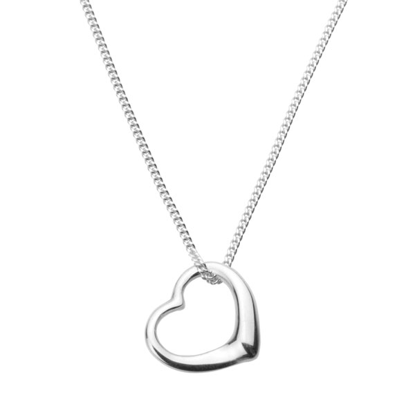 Find every shop in the world selling open heart necklace at pricepi silver open heart necklace aloadofball Gallery