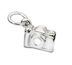 Silver Camera Charm