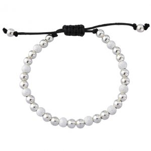 Silver Glitter Friendship Bracelet