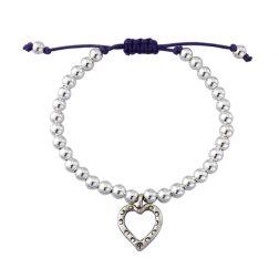 Silver friendship charm bracelet