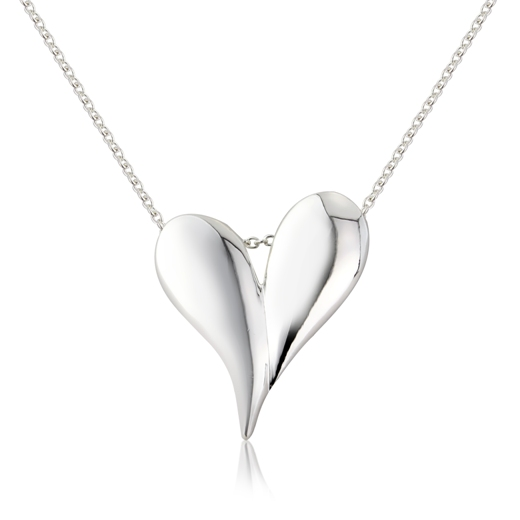 Silver heart necklaces heart pendants equinox jewellery uk silver melting heart necklace aloadofball Images