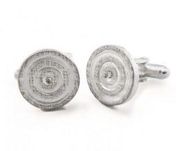 Silver Circle Cufflinks