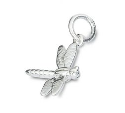 Silver dragonfly charm