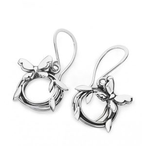 Silver Entwined Drop Earrings