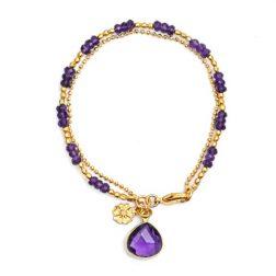 Athena Amethyst Drop Bracelet