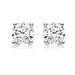 Silver reflections earrings