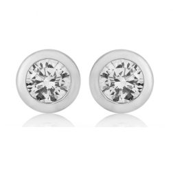 silver solo stud earrings