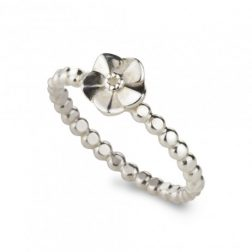Silver Forget Me Not Beaded Ring