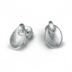 Silver Touch Drop Earrings