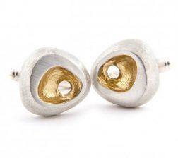 Silver Luna Cufflinks