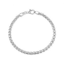 Silver Slim Spiga Bracelet