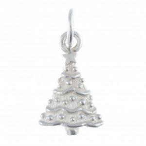Silver Christmas Tree Charm
