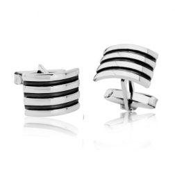 Silver Divario Cufflinks