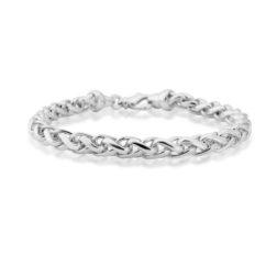 silver wide spiga bracelet