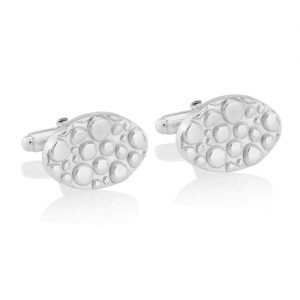 Silver Cobble Cufflinks