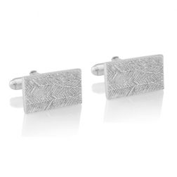 Silver Feather Cufflinks