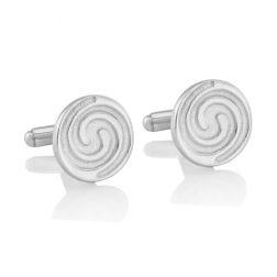 Silver Swirl Cufflinks