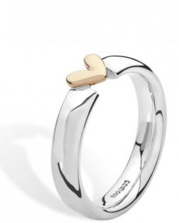 Silver Floating Heart Ring