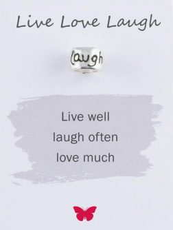 Silver Live Love Laugh Mojo Charmbead