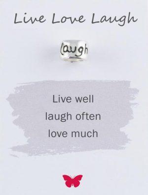 Silver Live Love Laugh Mojo Charmbead