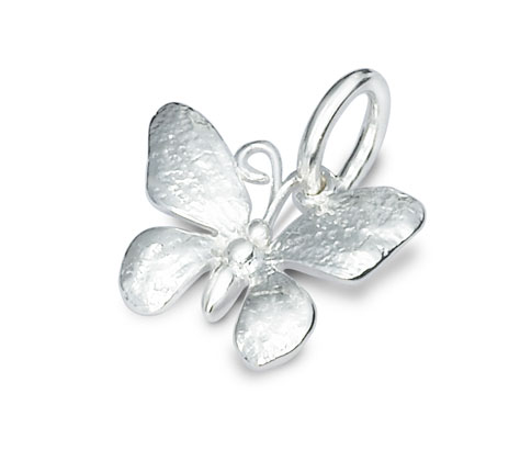Silver butterfly charm