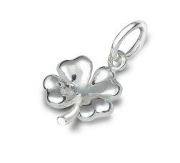 Silver Four Leaf Clover charm