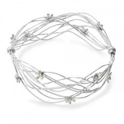 Silver And Gold Daisy Scribbles Bangle