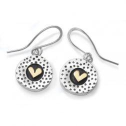 Dotty heart earrings