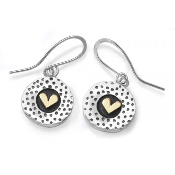 Dotty heart earrings