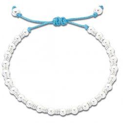 Silver beaded friendship bracelet