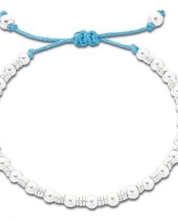 Silver beaded friendship bracelet