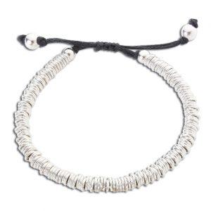 Silver sweetie friendship bracelet