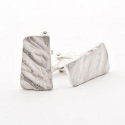 Silver rock cufflinks