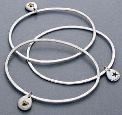 silver Pebble bangles