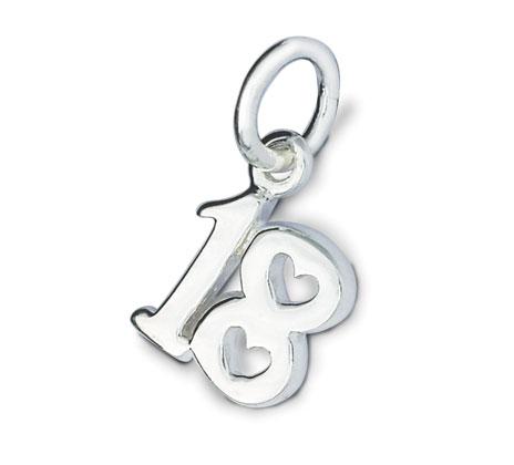 Silver 18th Birthday Charm