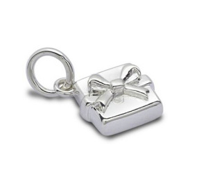 Silver Present Charm