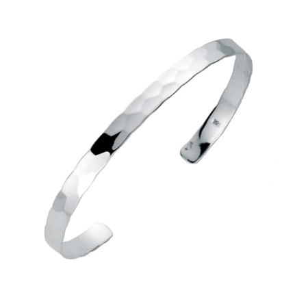 silver hammered bangle