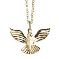 Gold Vermeil dove necklace